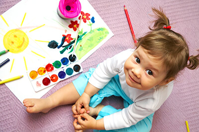 Girl Painting - Pediatric Dentist in Lititz, PA